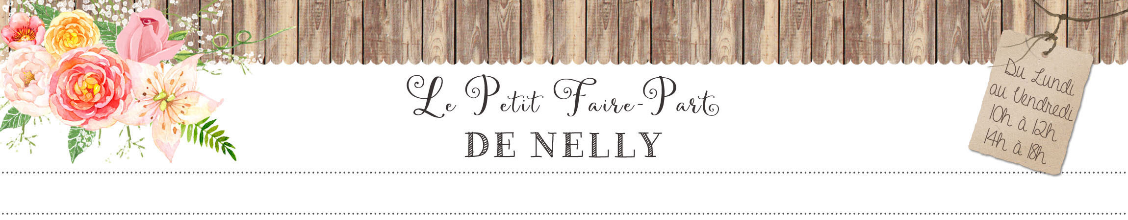 Logo Le Petit Faire-Part de Nelly