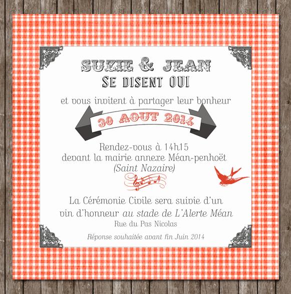 Création De Faire Part Mariage Festif Estival Sur Le Thème