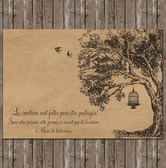 cr ation remerciements mariage arbre romantique. Black Bedroom Furniture Sets. Home Design Ideas