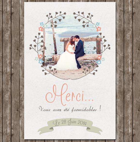 carte de remerciement mariage avec photo carte de remerciement mariage avec photo images baby. Black Bedroom Furniture Sets. Home Design Ideas