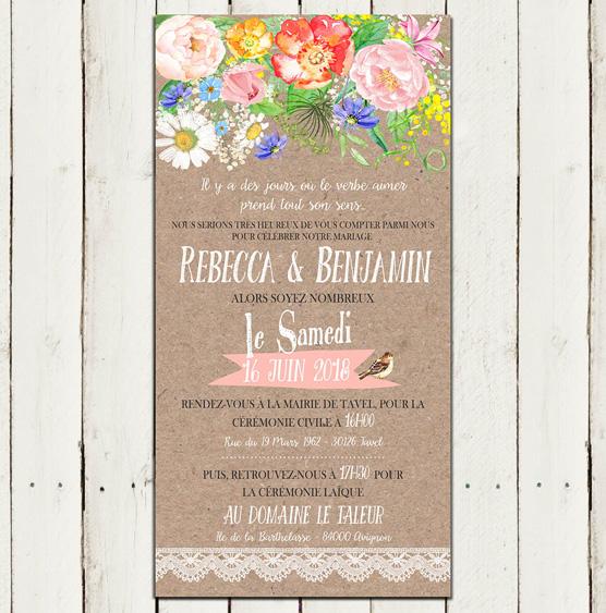 collection de faire part et invitaton mariage chic et romantique personnaliser. Black Bedroom Furniture Sets. Home Design Ideas