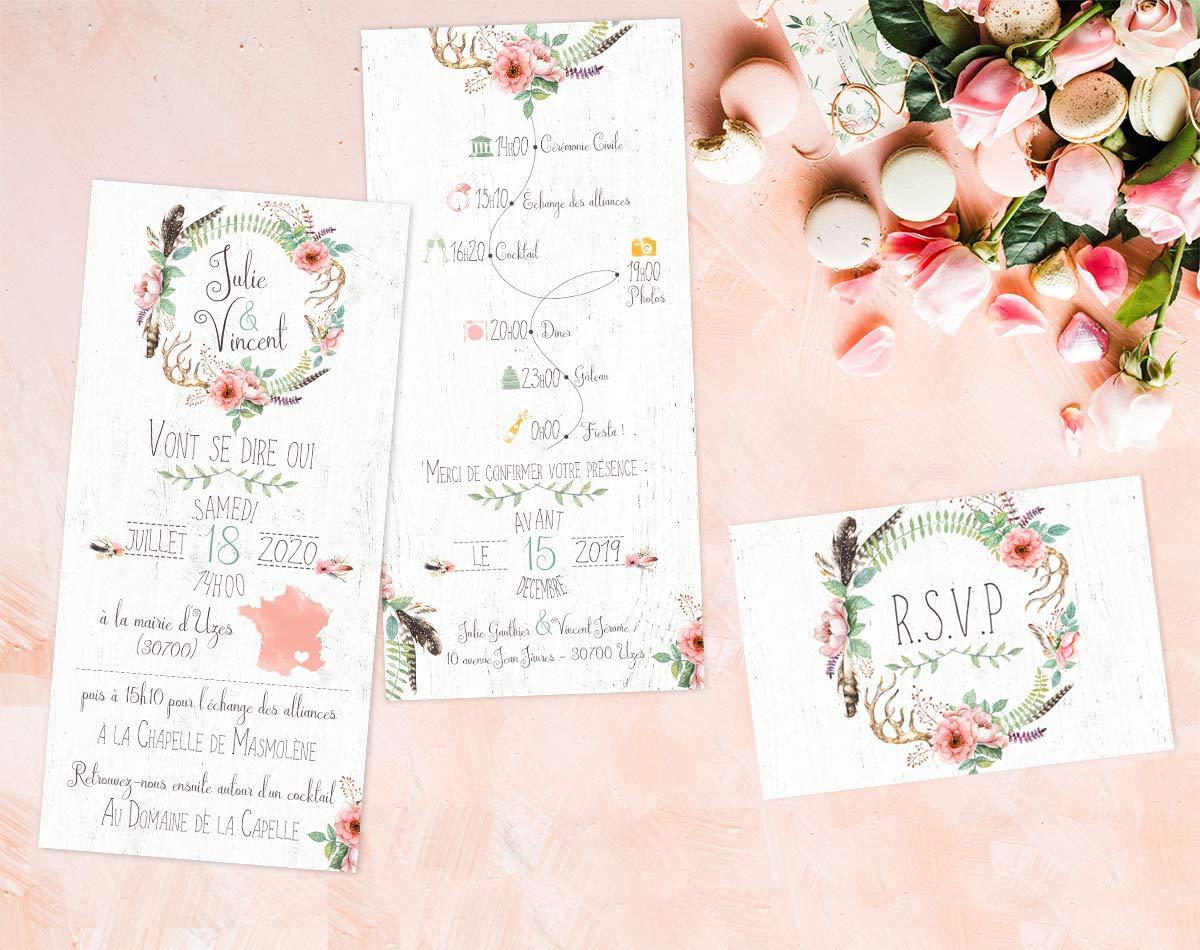 Collection De Faire Part Et Invitaton Mariage Chic Et